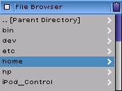 iPod file browser