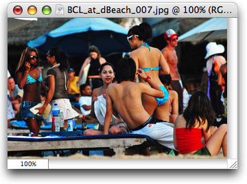 Bunga citra lestari at the beach